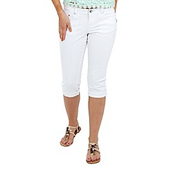 Joe Browns - White capri trousers