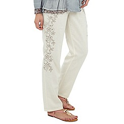 Joe Browns - White luxurious linen trousers