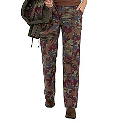 Joe Browns - Limited edition- khaki rose cargo trousers
