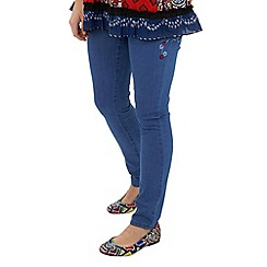 Joe Browns - Blue mexicana embroidered slim jeans