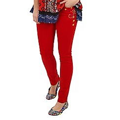 Joe Browns - Red mexicana embroidered slim jeans