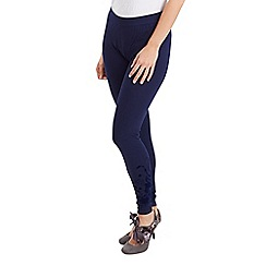 Joe Browns - Navy fabulous flock ankle leggings