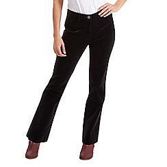 Joe Browns - Black boot cut velvet trousers