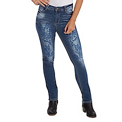 Joe Browns - Mid blue creative cutwork jeans