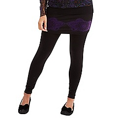 Joe Browns - Multi coloured 2 in 1 flocked leggings