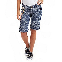 Joe Browns - Blue camouflage shorts