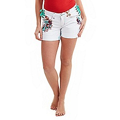 Joe Browns - White funky festival shorts