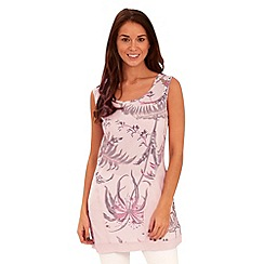 Joe Browns - Pink tropical linen tunic