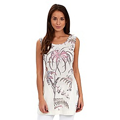 Joe Browns - White tropical linen tunic