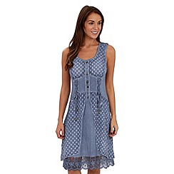 Joe Browns - Dark blue gypsy detail tunic