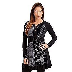 Joe Browns - Black patchwork tunic