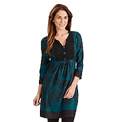 Joe Browns - Dark turquoise high roller tunic