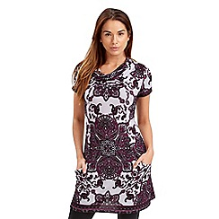 Joe Browns - Multi coloured purple rain tunic