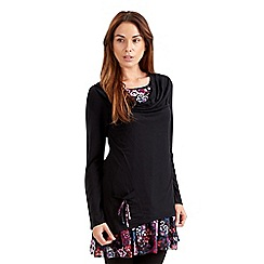 Joe Browns - Black creative cowl neck tunic