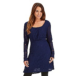 Joe Browns - Dark blue luscious lace tunic