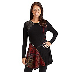 Joe Browns - Black devore panel tunic