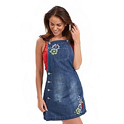 Joe Browns - Mid blue dungaree tunic