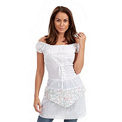 Joe Browns - White gypsy traveller tunic