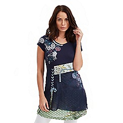 Joe Browns - Blue mesh tunic