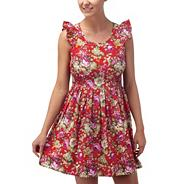 Multi coloured summer picnic dress