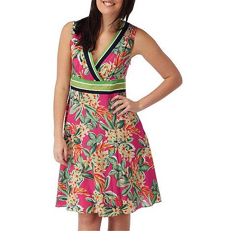 Joe Browns - Multi coloured tropical palm dress