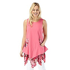 Joe Browns - Peach luscious linen layered dress
