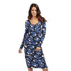 Joe Browns - Blue fabulous floral wrap dress
