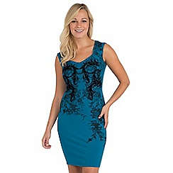 Joe Browns - Blue sensational lace print dress