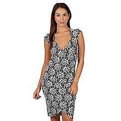Joe Browns - Multi coloured luscious lace wrap dress