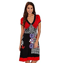 Joe Browns - Limited edition- multi coloured tribal print jersey v neck dress