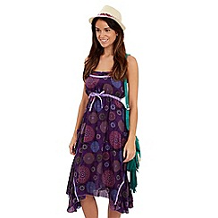 Joe Browns - Purple overdyed mexicana dress