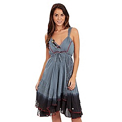 Joe Browns - Khaki ombre lace trim dress