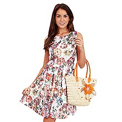 Joe Browns - Multi coloured lace floral print skater dress