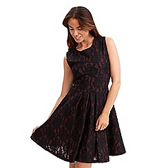 Joe Browns - Dark red striking lace skater dress