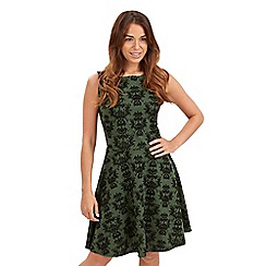 Joe Browns - Green flattering feminine flocked dress
