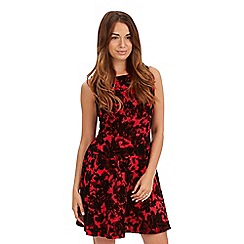 Joe Browns - Red flattering feminine flocked dress