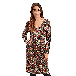 Joe Browns - Multi coloured crazy paisley mock wrap dress