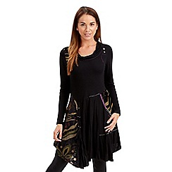 Joe Browns - Black delightful devore dress