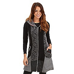 Joe Browns - Grey shawl collar zip through dress