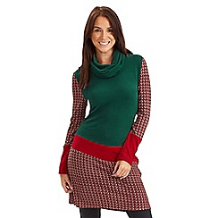 Joe Browns - Green christmas cracker dress
