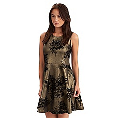 Joe Browns - Gold metallic skater dress