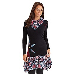 Joe Browns - Black creative neck mix n match dress