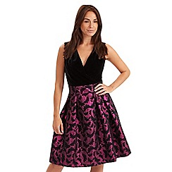 Joe Browns - Multi coloured butterfly jacquard dress