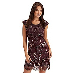 Joe Browns - Dark red beaded dress