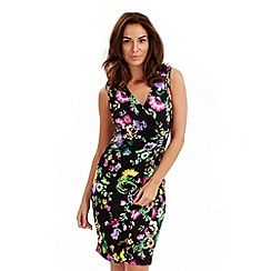 Joe Browns - Multi coloured oriental wrap jersey dress
