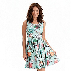 Joe Browns - Pale green sunset skater dress