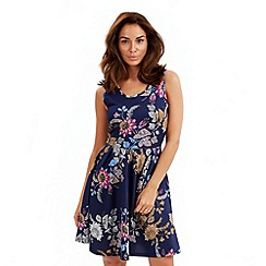 Joe Browns - Navy sunset skater dress
