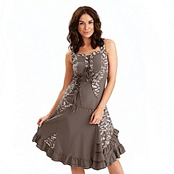 Joe Browns - Taupe mix it up dress