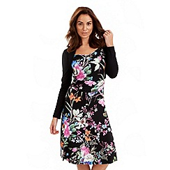 Joe Browns - Multi coloured tropical dress with shrug