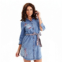 Joe Browns - Light blue sexy denim shirt dress